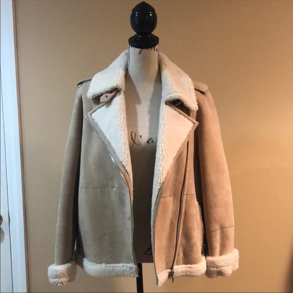 Kate spade authentic shearling jacket